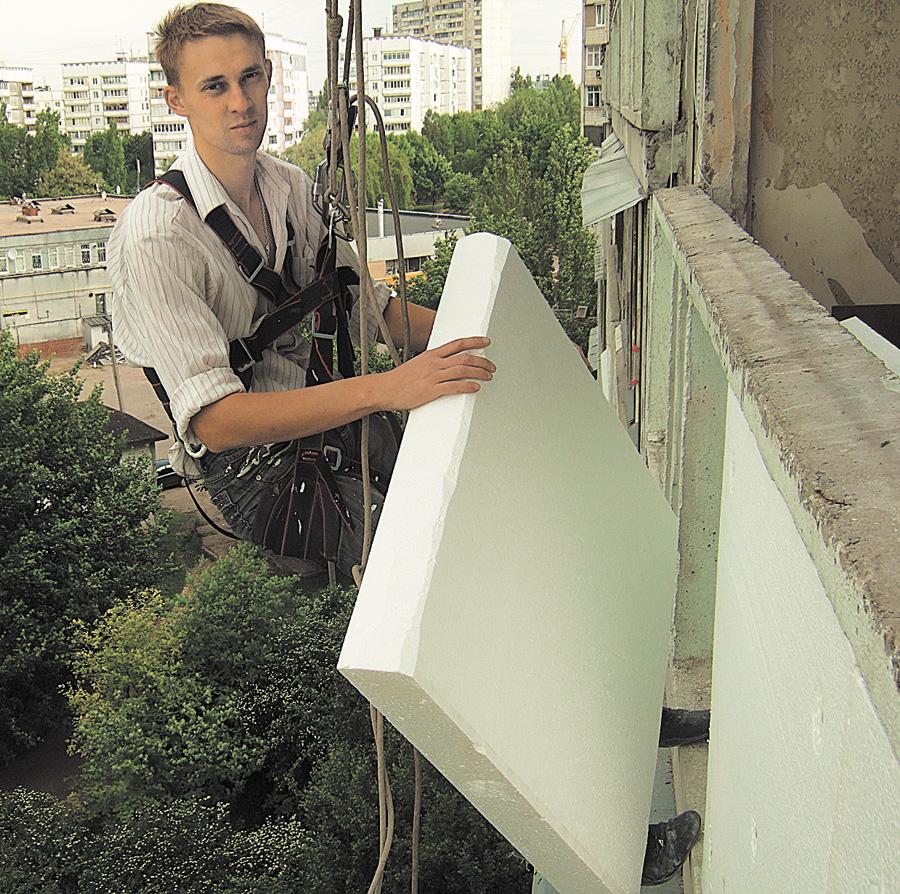 Как утеплить снаружи балкон своими руками