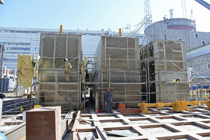 Підготовка до монтажу нового блочно-модульного конденсатора на енергоблоці найбільшої атомної станції Європи — Запорізької АЕС
