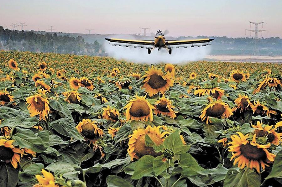 Попередження про авіаобробіток фугніцидами