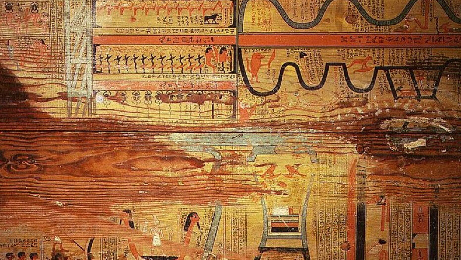 Підлога однієї з трун Гуа, лікаря-губернатора Джегутихотепа.